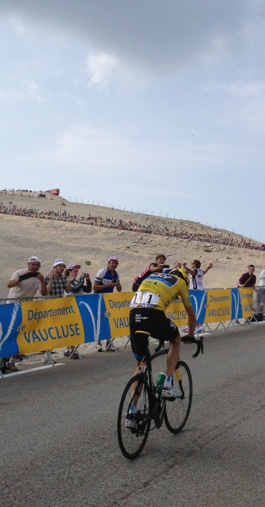 Froome with DCT on Ventoux